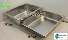 Stainless Steel Bain Marie Tray Pan GN 1/2 65mm deep for Gastronorm