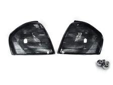 Euro Smoke Corner Signal Light + Chrome Bulbs For 1994-00 Mercedes W202 C Class