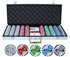500 pc ct 11.5g Poker Clay Chips Set Casino w/ Aluminum Case Free Ship Cards NEW