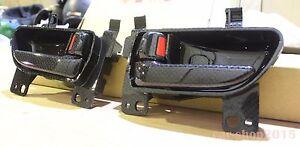 2pc Toyota FT86 GT86 Subaru BRZ Scion FR-S Inside Door Handle Carbon Look RH&LH