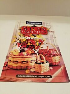 Longaberger AUTUMN INSPIRATIONS JULY/AUGUST 1995 FLYER/ CATALOGUE-FREE SHIPPING