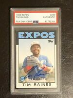 1986 Topps Tim Raines Authentic Autograph AUTO PSA/DNA Certified Card #280