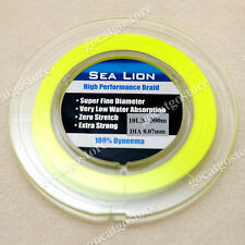 NEW Sea Lion 100% Dyneema  Spectra Braid Fishing Line 300M 10lb yellow