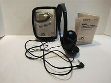 Sony Walkman Wm-Fx 290 Am Fm Radio Cassette Player & Headphones Works 2004