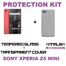 CUSTODIA COVER + PELLICOLA VETRO TEMPERATO SONY XPERIA Z5 COMPACT MINI CASE FILM