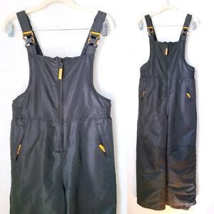Champion Youth Bk/Orange Bib Overall Ski Suit Size L (12-14) L5758B