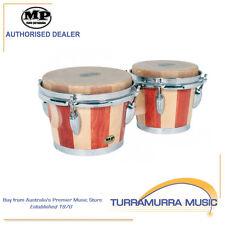 "Mano Percussion MP Bongo Drums - 7"" & 8"" Skin Head 2 Tone Wood Bongos - MP714"