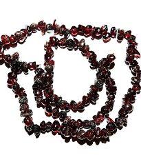 "NG1642f Dark Red Garnet Mini-Nugget (3-5mm) Gemstone Chip Beads 15"""