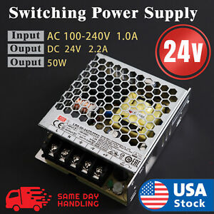 Mean Well LRS  50w 24V 2.2A Switching Power Supply LRS50-24
