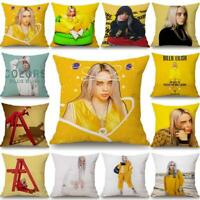 Home Decor Billie Eilish Pillowcase Hip Hop Singer Pillowcase Sofa Cushion Cover