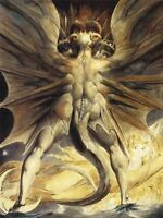 William Blake Red Dragon Woman Clothed Sun 1805 Old Art Canvas Art Print