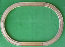 "Brio Compatible 10 Pc Oval Wooden Train Track: 8 Curved & 2- 8 1/2"" Straight"
