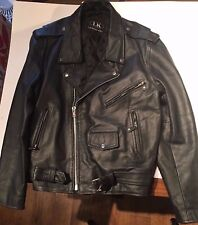 Leather King Motorcycle Jacket Size 48 Genuine Leather Biker Jacket Harley
