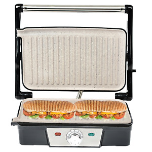 180° Fold-Out Health Grill Panini Press Machine Electric Sandwich Toaster Maker