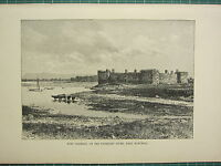 C1890 Antico Stampa ~ Fort Chambly Su The Richelieu Fiume Vicino Montreal Canada