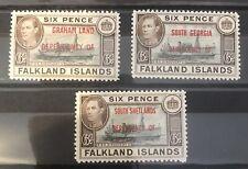 Falkland Islands Sg A6/D6/B6 Lmm Cat £54