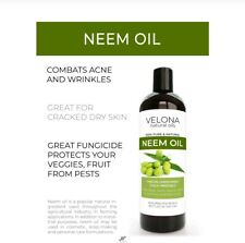 Organic Cold Pressed Neem Oil Concentrate Insecticide for Plants 2 oz
