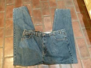 "Arizona Relaxed Fit Mens Blue Jeans 44x34 Rise 14"" 5 Pockets EUC"