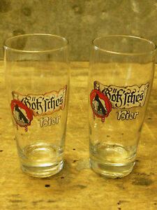 Götz Bier Adler Brauerei Altenstadt Geislingen 2 alte Biergläser Gläser 0,3 L
