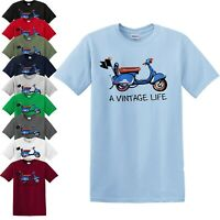 VINTAGE LIFE VESPA T-SHIRT/Biker/Motorcycle/Scooter/Rider/Retro Mod Sca/New/Top