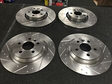 VOLVO S60 D5 R-DESIGN LUX PERFORMANCE BRAKE DISC FRONT REAR DIMPLED GROOVED