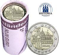 25 x Deutschland 2 Euro 2010 Bundesland Bremen Rathaus & Roland Mzz G in Rolle
