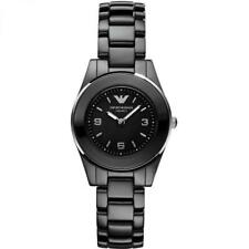 Brand New Emporio Armani Ladies Black Ceramic Watch AR1438