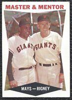 "1960 Topps Willie Mays Rigney ""Master & Mentor"" Vintage Baseball Card #7 - EX-MT"
