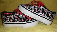 Baby girl VANS HELLO KITTY shoes 4c Black Red & White.  Good condition. Lace-Up