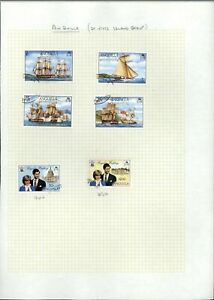 Anguilla Album Page Of Stamps #V14819