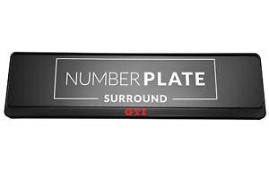 1 x Prestige Black Stainless Steel Number Plate Holder for any Volkswagen GTI
