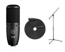 AKG P120 Studio Condenser Microphone + Mic Boom Stand + XLR Cable