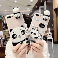 For iPhone X 6s 7 8 Plus 6 Case Cover Soft TPU Cute Panda 3D Silicone Skin Capa