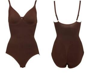 Body Wrap Shapewear The Pinup Bodysuit with Underwire SZ Small Chocolate 44001