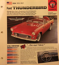 Repair manuals literature for 1957 ford thunderbird ebay ford thunderbird 1955 1957 hot cars poster with vital statistics publicscrutiny Images