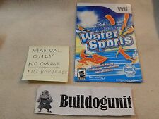Water Sports Nintendo Wii Manual Only No Game