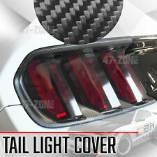For 15-17 Ford Mustang Matte Dry Real Carbon Fiber Tail Light Lamp Cover Trim