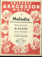"G. Plato :  "" Melodia "" ~ Walzer-Serenade"
