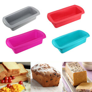 Non-Stick Silicone Toast Bread Cake Baking Molds Loaf Tin Bakeware Pan Moulds UK