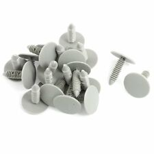 20 Pcs Gray Plastic Car Trim Clips Rivet Fastener 6mm Hole 26mm Head LW