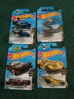 Hot Wheels Batman Batcopter TV Series Batmobile Batman Gold Batmobile Batplane