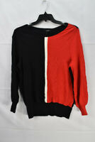 Alfani Women's Colorblock Pullover Sweater, Red, Size XL, NwoT
