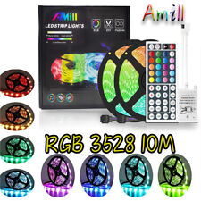 Amill 10M 3528 SMD RGB Flexible LED Light Strip 600LEDs 44 Key Remote Controller
