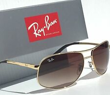 ff16bce1eb1 NEW  Ray Ban AVIATOR GOLD 64mm w Brown Bronze Gradient Sunglass RB 3387 001