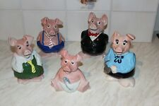 More details for  natwest wade piggy banks  set of all pigs with original stoppers!