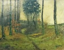 WALKWAY IN THE FOREST - BEAUTIFUL PAINTING - SIGNED