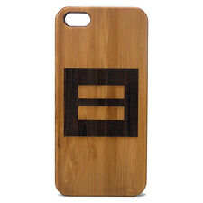 BAMBOO Case made for iPhone 5/5S & SE phones with Equality Symbol Artwork Design