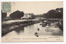 L'ISLE - ADAM Val D'Oise CPA 95 L'oise et le patis prise du pont cabouillet