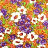 2.5 Yards 1960s Vintage Floral Fabric Purple Green