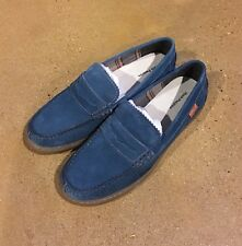 Hush Puppies Tyson Thorpe IIV Size 12 Denim Oxford Loafers Slip On Casual Shoes